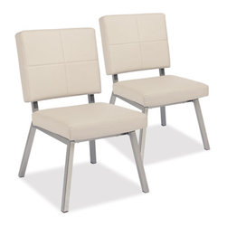 Thos. Baker - madison dining chair (PAIR) - For the madison collection, we began with German-engineered, premium synthetic leather from Skai in light taupe. Completely water- and UV-resistant.