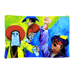 Caroline's Treasures - Mardi Gras Fabric Standard Pillowcase Moisture Wicking Material - Standard White on back with artwork on the front of the pillowcase, 20.5 in w x 30 in. Nice jersy knit Moisture wicking material that wicks the moisture away from the head like a sports fabric (similar to Nike or Under Armour), breathable performance fabric makes for a nice sleeping experience and shows quality. Wash cold and dry medium. Fabric even gets softer as you wash it. No ironing required.