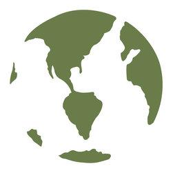 My Wonderful Walls - Earth Stencil for Painting - - Earth wall stencil
