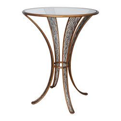 Varaluz - Varaluz 240A07HO Flow Pub Table - Hand Forged Eco-Friendly Recycled Steel