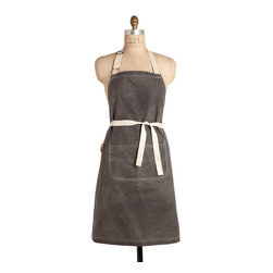 """Birdkage - Slate Waxed Classic Bib Apron - Birdkage - From Birdkage's new """"Heritage"""" collection, inspired by rugged American tradition.  The Slate style is made of waxed slate heavyweight cotton canvas and has a distinct """"grid"""" pattern to it."""