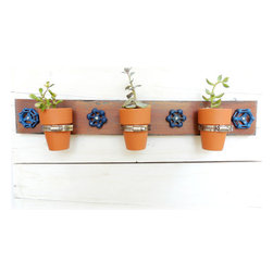 Hanging Planter, Vintage Faucet Handles by Reclaimed Grace - Here's a little artsy flair for your kitchen wall, complete with space for a few small herb plants.