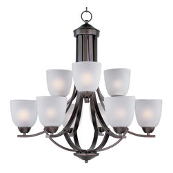 Maxim Lighting - Maxim Lighting 11226 Axis 9 Light Chandelier - 9 Bullbs, Bulb Type: 60 Watt Incandescent