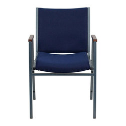 Flash Furniture - Flash Furniture Hercules Series Upholstered Stack Chair in Navy - Flash Furniture - Stacking Chairs - XU60154NVYGG - This functional stack chair can be used in a multitude of environments from small to large. The versatility of the chair makes it appropriate to use in the Church Offices and Training Rooms or in the Classroom or Home. The thick padded seat and back will keep users comfortable throughout the duration of the day. Not only is this chair comfortable but it is very durable with its heavy duty frame with bumper guards that will prevent the finish on the frame from being scratched when stacked. So when in need of temporary or permanent seating this multi-purpose stack chair is sure to meet the needs for any venue. [XU-60154-NVY-GG]