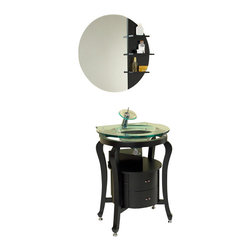Fresca - Fresca FVN3330ES Simpatico Espresso Modern Bathroom Vanity With Mirror & Shelves - Fresca FVN3330ES Simpatico Espresso Modern Bathroom Vanity With Mirror & Shelves