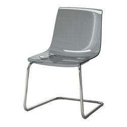 Carl Öjerstam - TOBIAS Chair - Chair, gray, chrome plated