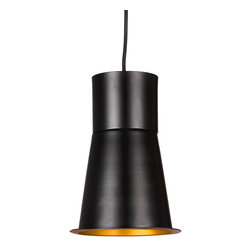 Flare Barrel Pendant - We love the idea of hanging several of these pendants above your kitchen island or going solo in your foyer or a hallway. Crafted from metal, the Flare Barrel Pendant works well in any room, no matter the d�cor. Simple yet intriguing, chic yet industrial, this pendant will add a touch of modern sophistication wherever it hangs.