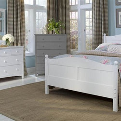 Bolton Furniture - Cottage Queen Bed w Essex 7-Drawer Dresser Set in White - Includes Cottage queen headboard, footboard and side rails and Essex dresser & mirror set. Chest not included. Bed:. Queen size bed. 64 in. L x 85 in. W x 47 in. H. Dresser:. 7 Drawers. Features shaker style case pieces. Dovetailed drawers and self-closing under mount glides. Made of solid maple and maple veneers. 60 in. W x 19 in. D x 34 in. H (185 lbs.). Mirror:. Landscape frame. Features shaker style case pieces. Dovetailed drawers and self-closing under mount glides. Made of solid maple and maple veneers. 43 in. W x 40 in. H. White finish. Assembly required. 1-Year warranty