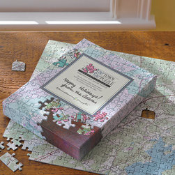 Hometown Puzzle - This is such a cool idea - send L.L. Bean your address, and they'll customize a jigsaw puzzle that portrays a map of your hometown. Please be advised, some are based on older survey maps, so don't pin your hopes on seeing your own house on the map if it's a fairly new build!