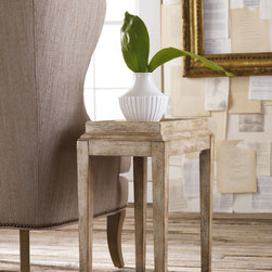 Hooker Furniture - Hooker Furniture Melange Coralie Accent Table 638-50041 - Come closer to Melange, and you will discover something unexpected, an eclectic blending of colors, textures and materials in a vibrant collection of one-of-a-kind artistic pieces.