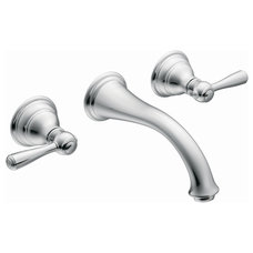 Moen Kingsley Wall Mounted Bathroom Faucet with Double Handles | Wayfair
