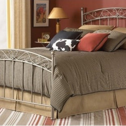 """FBG - Ellsworth Metal Bed - The Ellsworth Bed is a beautiful piece that will add style and class to any bedroom. Features: -New Brown finish.-Powder Coated Finish: Yes.-Gloss Finish: No.-Frame Material: Metal.-Upholstered: No.-Number of Items Included: 1 Headboard, 1 Footboard, 1 Bed Frame.-Hardware Material: Metal.-Non Toxic: Yes.-Scratch Resistant: No.-Box Spring Required: Yes -Boxspring Included: No..-Headboard Storage: No.-Footboard Storage: No.-Underbed Storage: No.-Slats Required: No.-Center Support Legs: Yes.-Adjustable Headboard Height: No.-Adjustable Footboard Height: No.-Wingback: No.-Trundle Bed Included: No.-Attached Nightstand: No.-Cable Management: No.-Built in Outlets: No.-Lighted Headboard: No.-Finished Back: Yes.-Reclaimed Wood: No.-Number of Center Support Legs (Size: Full): 0.-Number of Center Support Legs (Size: King): 2.-Number of Center Support Legs (Size: Queen): 2.-Number of Center Support Legs (Size: Twin): 0.-Distressed: No.-Bed Rails Included: Yes.-Collection: Ellsworth.-Eco-Friendly: No.-Recycled Content: No.-Wood Moldings: No.-Canopy Frame: No.-Hidden Storage: No.-Jewelry Compartment: No.-Weight Capacity: 750 lbs.-Swatch Available: No.-Commercial Use: No.-Product Care: Wipe with a clean, damp cloth.Specifications: -FSC Certified: No.-EPP Compliant: No.-CPSIA or CPSC Compliant: No.-CARB Compliant: No.-JPMA Certified: No.-ASTM Certified: No.-ISTA 3A Certified: No.-PEFC Certified: No.-General Conformity Certificate: No.-Green Guard Certified: No.Dimensions: -Overall Height - Top to Bottom (Size: Full): 53"""".-Overall Height - Top to Bottom (Size: King): 53"""".-Overall Height - Top to Bottom (Size: Queen): 53"""".-Overall Height - Top to Bottom (Size: Twin): 51"""".-Overall Width - Side to Side (Size: Full): 54.5"""".-Overall Width - Side to Side (Size: King): 77.5"""".-Overall Width - Side to Side (Size: Queen): 61.5"""".-Overall Width - Side to Side (Size: Twin): 39.5"""".-Overall Depth - Front to Back (Size: Full): 80.57"""".-Overall Depth - Front to Back (Size: """