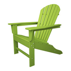 Polywood - Eco-friendly Adirondack Armchair in Lime - Beach bodies will enjoy the roomy seat and curved back of this comfortable chair. Want to turn your outdoor living space into the hottest spot in the neighborhood? Its easy with the South Beach Collection. Just like the popular Miami Beach scene, You'll enjoy an eclectic blend of bold art deco along with the relaxed comfort and style that you've come to expect from traditional Adirondack furniture. This collection not only looks amazing, but its also built to last for years to come. Provides the look of painted wood without the maintenance