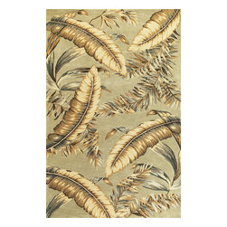 KAS - Sparta Ferns 3131 Pale Green Rug by Kas - 5 ft 3 in x 8 ft 3 in - The use of floral patterns and color stylings is simply amazing in the Sparta Collection from Kas. Hand tufted of high-density wool, each rug potrays an unqiue floral arrangement that is both elegant and fashion forward. The use of different colors is simply wonderful with each peice more eye-popping than the next. If it's a floral themed rug you are in the market for, look no further than the Sparta Collection from Kas.