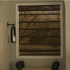 Bathroom - Woven Wood Shades add textural interest to any room. Bring a touch of the outdoors inside with these shades that can be dressed up or down; add edge binding for a more finished look. Tighter weaves provide increased privacy, light control and energy efficiency.