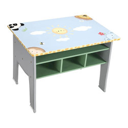 Teamson Design - Teamson Kids Sunny Safari Hand Painted Kids Table - Teamson Design - Kids Tables - W8267A1. Join our wonderful chairs with a table that brings life through the wonderful animal paintings! The pure texture will keep your little ones excited and bring life to every room!