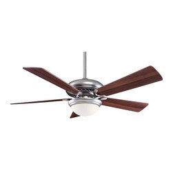 Minka Aire - Minka Aire Supra 52 SP Ceiling Fan in Brushed Steel - Minka Aire Supra 52 SP Model MF-F569-BS/DW in Brushed Steel with Dark Walnut Finished Blades.