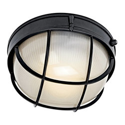 Kichler - Kichler No Family Association Outdoor Lighting Fixture - Shown in picture: Outdoor Sconce 1Lt Fluorescent in Black (Painted)