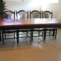 Very rustic farm table - From http://www.ecustomfinishes.com