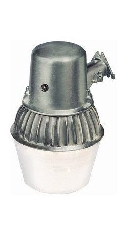 HEATHCO - 65W CFL Security Light with Photo - Dusk-to-dawn operation. Up to 10,400 square foot light coverage. Uses 1 CFL, E39 mogul base bulb (70W) included. Up to 10,000 hour bulb life. Operating temperature: -13 to 120 degrees F.