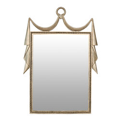 """Palace Mirror (Vertical) - Palace Mirror (Vertical). Style no: MF88753. 33""""w x 47""""h. Material: Metal. Finish: As specified. Custom sizing available. Designed by Shah Gilani, ASFD."""