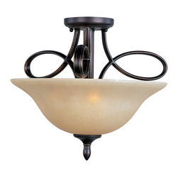 Maxim Lighting - Maxim Lighting 21302WSOI Infinity Oil Rubbed Bronze Semi-Flush Mount - 3 Bulbs, Bulb Type: 60 Watt Incandescent