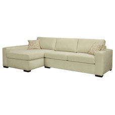 Serving Dishes And Platters Bennett Cream Sectional Sofa