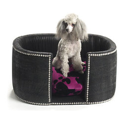 Cowgirl Chic Dog Bed - This bed is a bit more stately for smaller dogs. It has nice details with the studs all around.
