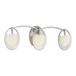 George Kovacs - Earring 3-Light Bath - What goes 'round comes 'round. It's simple: Your good taste and natural sense of design has come full circle … and your good fortune is being manifested by the acquisition of these sophisticated orb-inspired bath lamps.