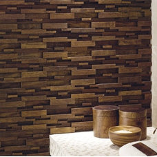 modern floor tiles Mosaic Wood Tile By MLH Tile