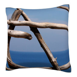 Custom Photo Factory - Wood Formation By Sea Pillow.  Polyester Velour Throw Pillow - Wood Formation By Sea Pillow. 18 Inches x 18  Inches.  Made in Los Angeles, CA, Set includes: One (1) pillow. Pattern: Full color dye sublimation art print. Cover closure: Concealed zipper. Cover materials: 100-percent polyester velour. Fill materials: Non-allergenic 100-percent polyester. Pillow shape: Square. Dimensions: 18.45 inches wide x 18.45 inches long. Care instructions: Machine washable