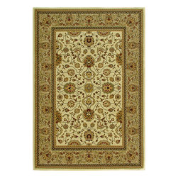 """Orian - Orian American Heirloom Serapi (Linen) 3'11"""" x 5'5"""" Rug - American Heirloom Collection, Orian Rugs' flagship collection is inspired by classic, hand-woven oriental rugs that combine understated elegance with classic style. The 1.5 million point design construction is densely woven with Orian's finest-denier yarns creating unparalleled visual dimension and pin point design clarity."""