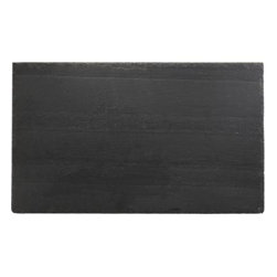 Large Rectangle Slate Board - Handsome charcoal grey slate, millions of years in the making, presents a distinctive, natural surface for serving the cheese course or appetizers. Quarried from the hills of Pennsylvania, each board is hand-shaped, with natural, unfinished edges. Each piece is washed and sealed for easy care.