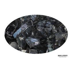 "Boone Hearth - 10 LB Bag of 1/4"" Gunmetal Fire Glass - 10 LB Bag of 1/4"" Gunmetal Fire Glass"