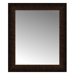 """Posters 2 Prints, LLC - 18"""" x 21"""" Dark Copper Custom Framed Mirror - 18"""" x 21"""" Custom Framed Mirror made by Posters 2 Prints. Standard glass with unrivaled selection of crafted mirror frames.  Protected with category II safety backing to keep glass fragments together should the mirror be accidentally broken.  Safe arrival guaranteed.  Made in the United States of America"""