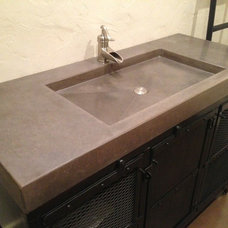 Contemporary Vanity Tops And Side Splashes by Customcrete, Inc.