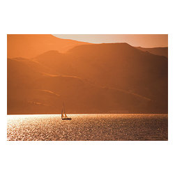 Custom Photo Factory - New Zealand Sunset Canvas Wall Art - New Zealand Sunset  Size: 20 Inches x 30 Inches . Ready to Hang on 1.5 Inch Thick Wooden Frame. 30 Day Money Back Guarantee. Made in America-Los Angeles, CA. High Quality, Archival Museum Grade Canvas. Will last 150 Plus Years Without Fading. High quality canvas art print using archival inks and museum grade canvas. Archival quality canvas print will last over 150 years without fading. Canvas reproduction comes in different sizes. Gallery-wrapped style: the entire print is wrapped around 1.5 inch thick wooden frame. We use the highest quality pine wood available. By purchasing this canvas art photo, you agree it's for personal use only and it's not for republication, re-transmission, reproduction or other use.