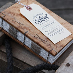 Wood Journal With Long Stitch and Reinforced Binding by Boarding School