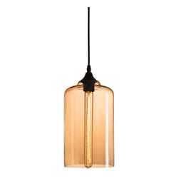 Zuo - Bismite Amber Glass Pendant - The Bismite Amber Glass Pendant has an exquisite amber color with a unique bulb that gives a luxe feel to any room. Perfect to hang solo for task lighting or grouped for dramatic emphasis.  Let this tea-colored glass pendant complete the look of your space.