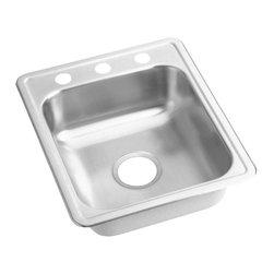 """Elkay - Elkay Dayton 17 x 21 1/4 Top Mount Sink with Three Holes, Stainless Steel - Elkay D117213 Dayton 17"""" x 21 1/4"""" Top Mount Sink with Three Holes, Stainless Steel"""