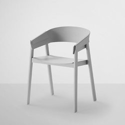 Muuto - Muuto | Cover Chair - Design by Thomas Bentzen, 2013.By MUUTO.   The Cover Chair is made from all wood and no metal. The wood is folded over the chairs legs and back rest. This technical innovation of the wood layering locks the chair together. The Cover Chair is available in grey, black or oak finishes.