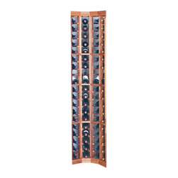 Wine Cellar Innovation - Designer Series 72-Bottle 4-Column Curved Corner Wine Rack with Display Row - DR - Shop for Wine Bottle Holders and Racks from Hayneedle.com! The Designer Series 72-Bottle 4-Column Curved Corner Rack with Display Row allows your racking to make a smooth transition from wall to wall. Constructed from the finest redwood. Redwood is the ideal wood for wine storage because it is naturally resistant to humidity decay and mildew and will last a lifetime. This rack offers 4 columns wide by 18 rows high of full bottle depth compartments with 1 display row and it can hold up to 72 bottles of wine. Each bottle is cradled on 2 rails that are cut with beveled ends and rounded edges which ensure the labels will not tear when the bottles are removed. This rack is distinguished from others with its 90 degree curved corners. In addition this wine rack features a display row that's placed at a 15 degree angle which keeps the cork moist while allowing you to view the label easily. Page down to see more items in the Designer Series Collection! About Wine Cellar InnovationsWine Cellar Innovations the world's foremost designer and manufacture of custsom wine cellars and wine racks. Founded more than 20 years ago Wine Cellar Innovations continues to offer creative and functional wine storage solutions while expanding new horizons in refrigeration 3D color design and 3D virtual reality walkthroughs. Wine Cellar Innovations is located in Cincinnati Ohio.