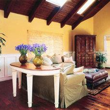 Mediterranean Living Room by Richens Designs, Inc.