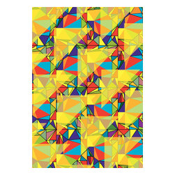 Custom Photo Factory - Triangles Texture Canvas Wall Art - Triangles Texture  Size: 20 Inches x 30 Inches . Ready to Hang on 1.5 Inch Thick Wooden Frame. 30 Day Money Back Guarantee. Made in America-Los Angeles, CA. High Quality, Archival Museum Grade Canvas. Will last 150 Plus Years Without Fading. High quality canvas art print using archival inks and museum grade canvas. Archival quality canvas print will last over 150 years without fading. Canvas reproduction comes in different sizes. Gallery-wrapped style: the entire print is wrapped around 1.5 inch thick wooden frame. We use the highest quality pine wood available. By purchasing this canvas art photo, you agree it's for personal use only and it's not for republication, re-transmission, reproduction or other use.