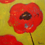 Flower by Mimi Gravel - Large format artwork - Mainly mixed medium on birch panel or canvas.