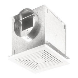 Broan-Nutone L200 High Capacity Ventilation Fan - To suck it up is no problem with a Broan L200 Broan High Capacity Ventilation Fan. It gets tough on ventilation.The 20 gauge galvanized steel housing provides all the durability your bathroom needs. It installs horizontally, vertically, or in-line with an available adapter. It is sure to fit any new or remodeled home.This fan just gets the job done, no matter where you need it. When connected to a GFCI branch circuit, it is UL listed for use over bathtubs and showers. What you don't need is excessive noise. It doesn't get much quieter than this, as it operates at the same level as normal speech. If you add an available variable speed control, you hold the keys to just how loud and fast it operates. A white polymer grille finishes this versatile fan.It gives you the options you need. And getting what you need is, ultimately, what you want.About Broan-NuToneBroan-NuTone has been leading the industry since 1932 in producing innovative ventilation products and built-in convenience products, all backed by superior customer service. Today, they're headquartered in Hartford, Wisconsin, employing more than 3200 people in eight countries. They've become North America's largest producer of medicine cabinets, ironing centers, door chimes, and they're the industry leader for range hoods, bath and ventilation fans, and heater/fan/light combination units. They are proud that more than 80 percent of their products sold in the United States are designed and manufactured in the U.S., with U.S. and imported parts. Broan-NuTone is dedicated to providing revolutionary products to improve the indoor environment of your home, in ways that also help preserve the outdoor environment.