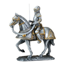 Summit - Noble Spanish European Knight Marching On His Great Steed Collectible - This gorgeous Noble Spanish European Knight Marching On His Great Steed Collectible has the finest details and highest quality you will find anywhere! Noble Spanish European Knight Marching On His Great Steed Collectible is truly remarkable.