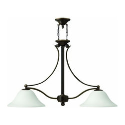 Hinkley Lighting - Hinkley Lighting 4662-OPAL Bolla 2 Light 1 Tier Chandelier - Two Light Single Tier Chandelier from the Bolla CollectionFeatures: