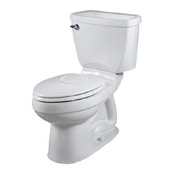 American Standard - Champion 4 Right Height Elongated Two-Piece Toilet in White - American Standard 2002.014.020 Champion 4 Right Height Elongated Two-Piece Toilet in White.