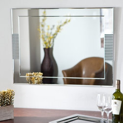 Decor Wonderland - Francisca Large Frameless Wall Mirror - 23.6W x 31.5H in. Multicolor - SSM526 - Shop for Bathroom Mirrors from Hayneedle.com! The Francisca Large Frameless Wall Mirror is both stunning and elegant and is sure to create a lasting impression. Handcrafted with one mirror placed on top of another to give this mirror a framed effect you'll love the depth and style this mirror adds to any room. Constructed from sturdy .19-inch-thick glass and metal with a double coated silver backing that has seamed edges this mirror is durable and will easily become a favorite. Mounting hardware is included and the mirror comes ready to hang vertically or horizontally.About Decor Wonderland of USDecor Wonderland US sells a variety of living room and bedroom furniture mirrors lamps home office necessities and decorative accessories. Decor Wonderland strives to add variety to their selection so that every home is beautifully and perfectly decorated to suit their customer's unique tastes.